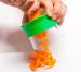 Espirales de zanahoria con pesto de remolacha