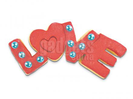 Tallador galetes paraula LOVE 7,5 cm