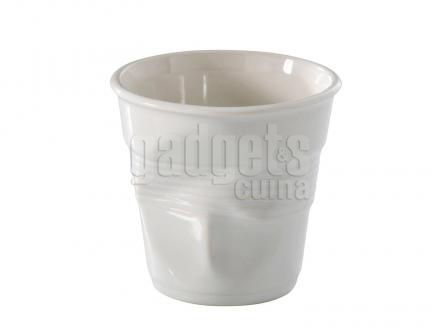 Tassa espresso arrugada Revol blanc