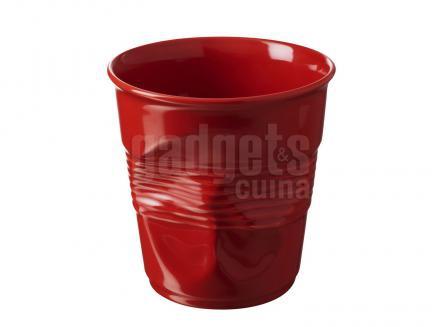 Tassa espresso arrugada Revol 80 ml vermell