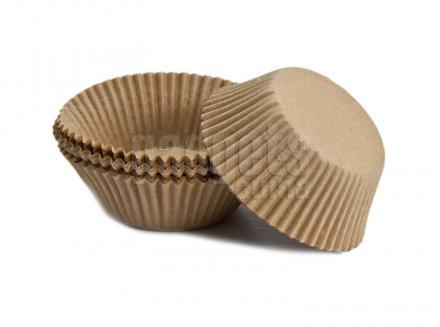 Paper cupcakes x75 Natural