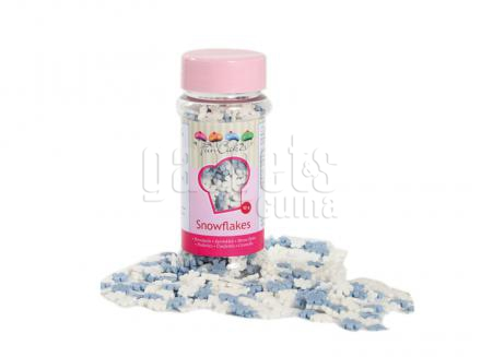 Sprinkles floc de neu blau/blanc 50 g