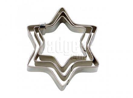 Set 3 talladors galetes Estrella mini