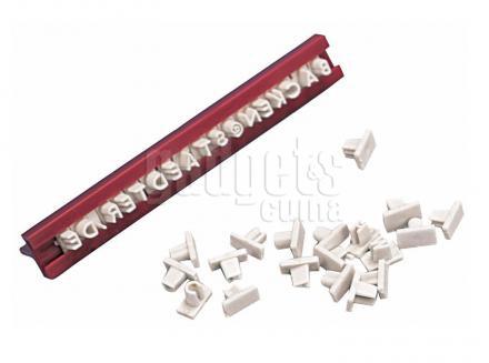 Set lletres i números Brigitte segell galetes