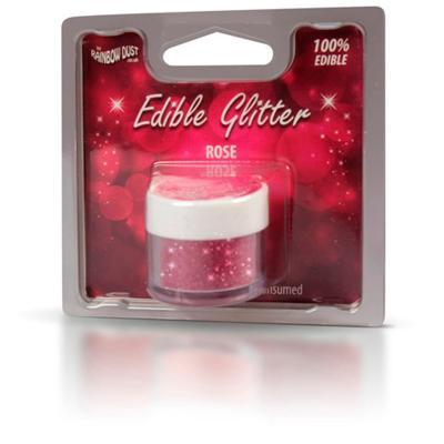 Pols brillant comestible 5g Glitter Rosa