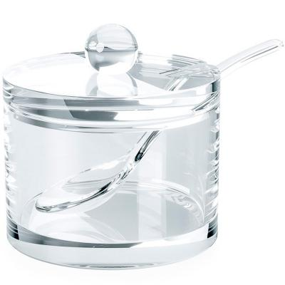 Sucrera cilíndrica transparent acrílica