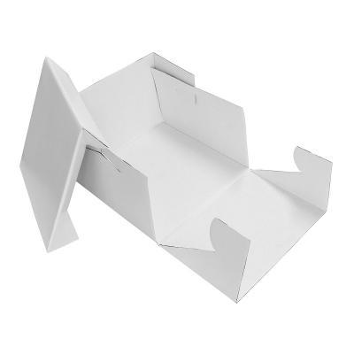 Caja para pasteles cuadrada blanca