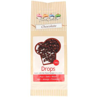 Drops Xocolata Negre Funcakes 350 g