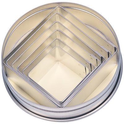 Set 6 tallapastes quadrats 3-7 cm