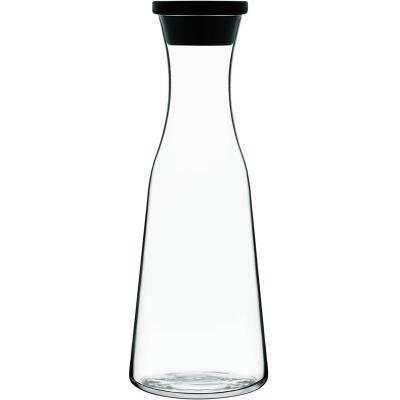 Ampolla vidre amb tap silicona 1 L