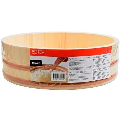 Bol fusta Hangiri per a arròs sushi 30 cm