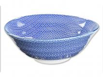Bol soba japon�s Nippon Blue quadres 21 cm