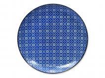 Plat Nippon Blue flor 26 cm