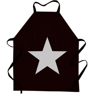 Davantal de cuina vinil negre Estrella plata
