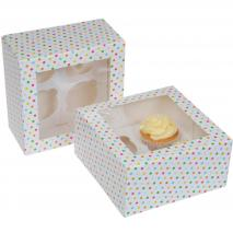 Juego 2 cajas para 4 cupcakes Confetti