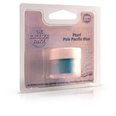 Pols de seda comestible 3 g Blau perlat