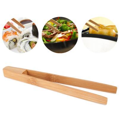Pinça mini torrades i cuina bambú