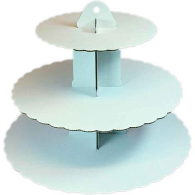 Expositor 3 pisos pastissos Tier Blanc