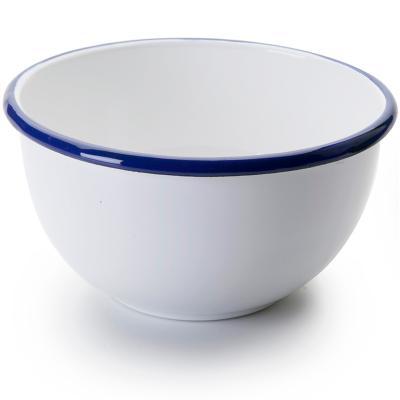 Bol acero esmaltado blanco azul