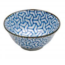 Bol japonés azul hélice