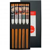 Set 5 palillos japoneses Sumo