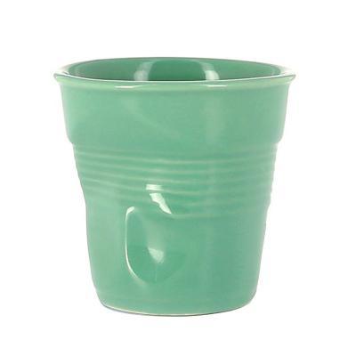 Tassa espresso arrugada Revol 80 ml verd salvia