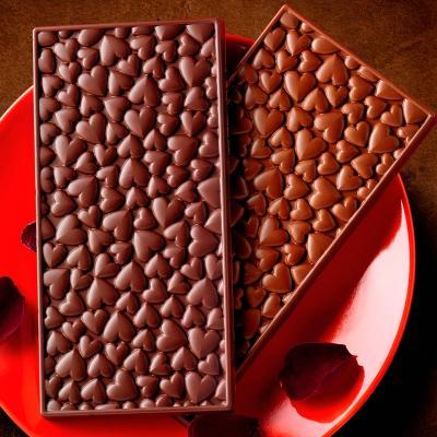 Motllo silicona tableta xocolata Love