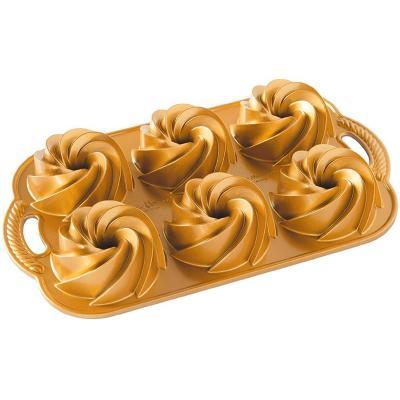 Motllo pastís Mini Heritage Bundt Nordic x6 gold