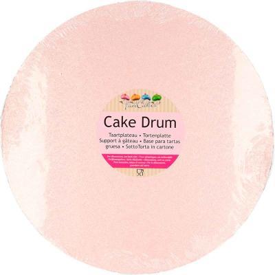 Base para pasteles redonda rosa