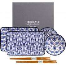 Set japonés presentación sushi makis Blue 6 piezas