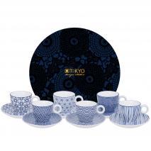 Set regalo café espresso Nippon Blue 12 piezas
