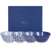 Set 4 boles arroz sushi Nippon Blue surtidos