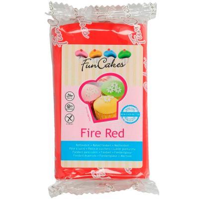 Fondant FunCakes 250 g fire red vermell