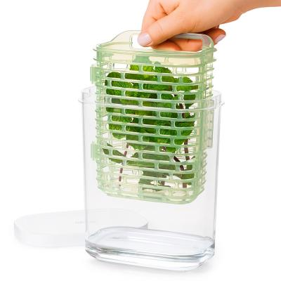 Contenidor amb cistell interior per herbes fresca