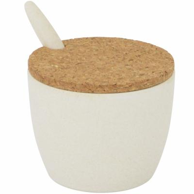 Sucrera amb cullera fibra bambú i tapa suro