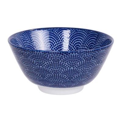 Bol arròs japonès Nippon Blue dots 12 cm