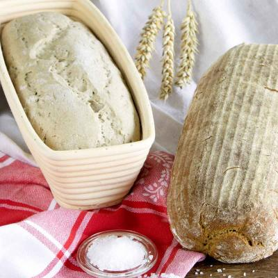 Banetton cistell rattan per fermentar pa ovalat