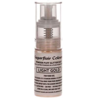 Spray comestible purpurina or clar