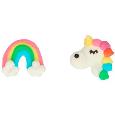 Set 8 decoracions de sucre Unicorn i Arc St Mart?