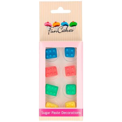 Set 8 decoracions de sucre Blocs construcció