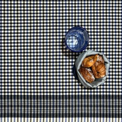 Mantel resinado 250x140 Square Royal azul