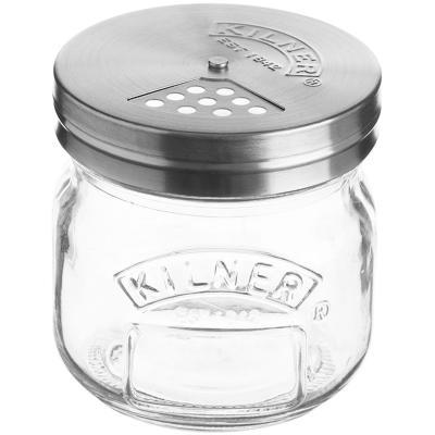 Pot vidre amb tapa dispensadora 250 ml