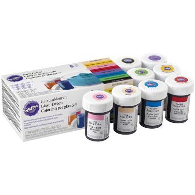 Set 8 colorants Wilton icing color 28 g