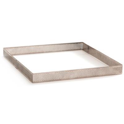 Quadrat rebosteria perforat inox alt 3,5cm