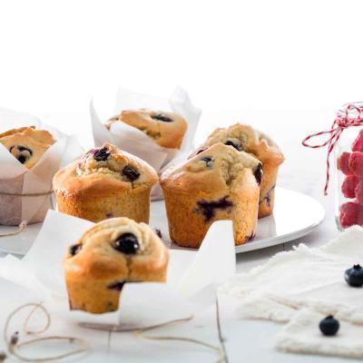 Motllo muffins silicona 6 cav. x120 ml vermell