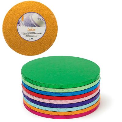 Base para pasteles redonda naranja