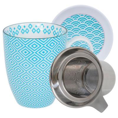 Set mug amb filtre Nippon eclectic turquesa