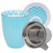 Set mug con filtro Nippon eclectic turquesa
