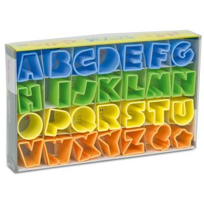 Set 28 talladors galetes lletres colors