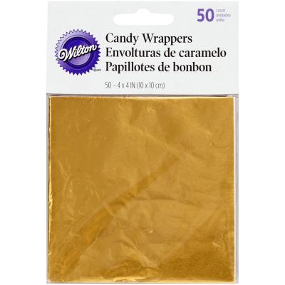 Set 50 papers metàl.lics daurat embolicar bombons